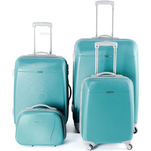 002bc82f77021 Komplet walizek z poliwęglanu + kuferek Puccini PC 005 - turkusowy lux4u-pl  turkusowy baza