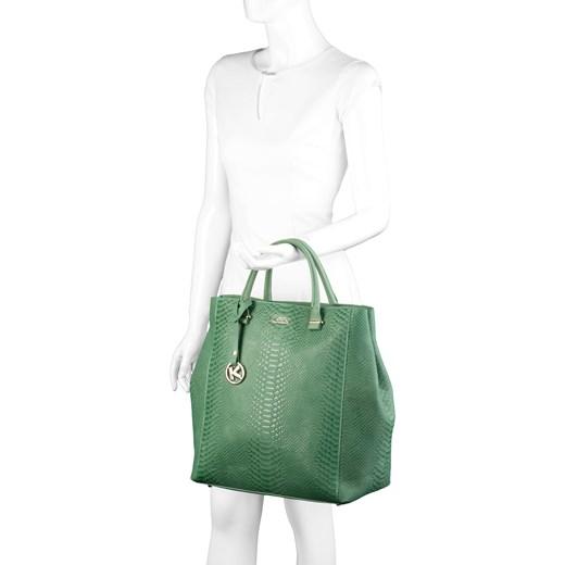 23bc4b4c4685b ... Zielona torebka skórzana kazar-com zielony klasyczny ...