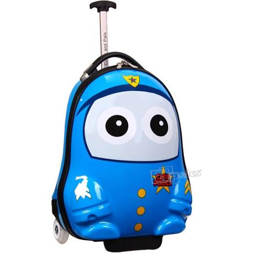 d2ea4c09be6c3 Policjant walizka na kółkach dla dzieci z serii The Cases - Policjant apeks-pl  niebieski