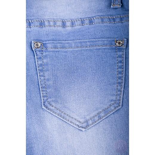 f4affce6 Damskie rurki jeanso-leginsy jasno niebieskie z wyższym stanem mercerie-pl  szary