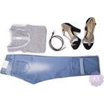 97ba8f93 Spodnie jeansy rurki jasno niebieskie z wyższym stanem mercerie-pl ...