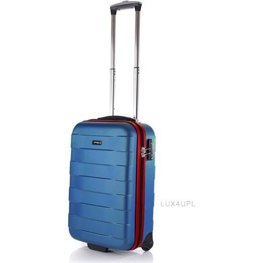 342f7afee8f5d Walizka podróżna mała, kabinowa, na 2 kółkach Bumper March - niebieski  lux4u-pl