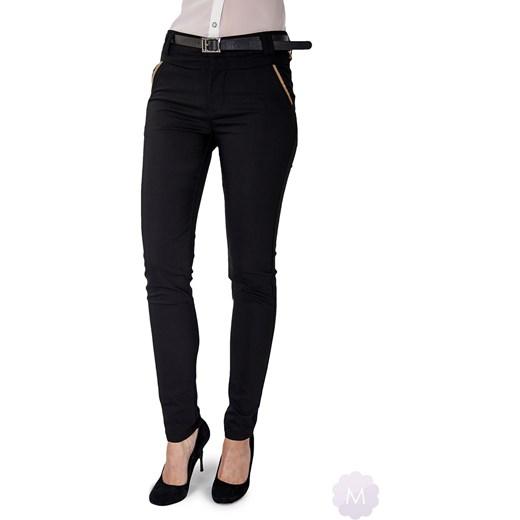271a97b983 Czarne eleganckie spodnie rurki z wyższym stanem mercerie-pl czarny damskie  ...
