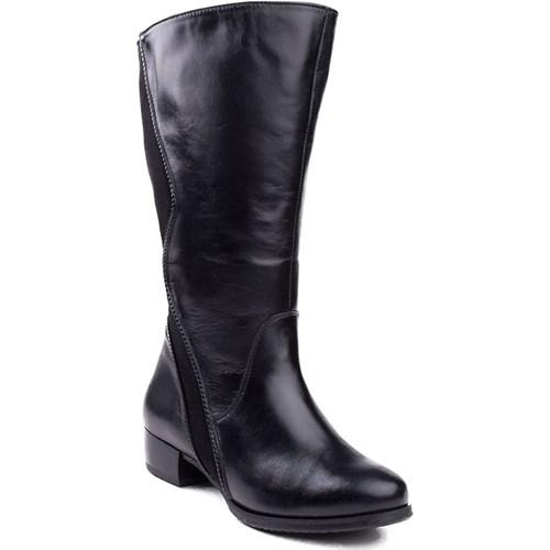 1c44a81e5d49c 673F-C25 Marco Shoes kozaki czarne z szeroką cholewką milandi-pl ...