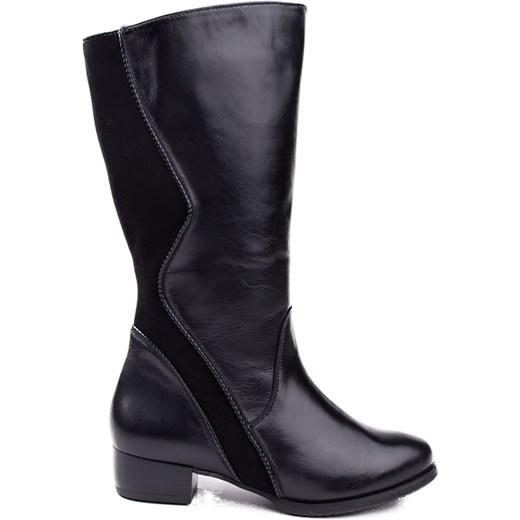 cc89517e3af0e 673F-C25 Marco Shoes kozaki czarne z szeroką cholewką milandi-pl czarny  cholewki w Domodi