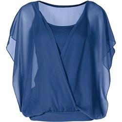 066956fb91d9 Niebieskie bluzki na imprezę damskie bodyflirt