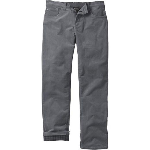 Spodnie sztruksowe ocieplane bonprix szary bawełniane
