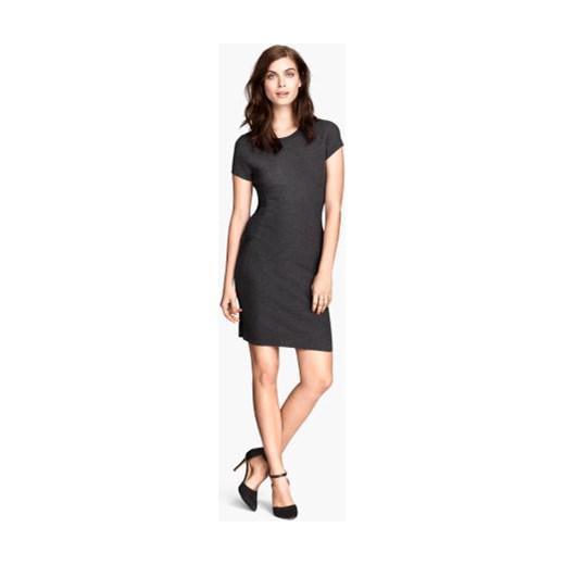 2574041d4d Sukienka w strukturalny wzór h-m szary abstrakcyjne wzory w Domodi