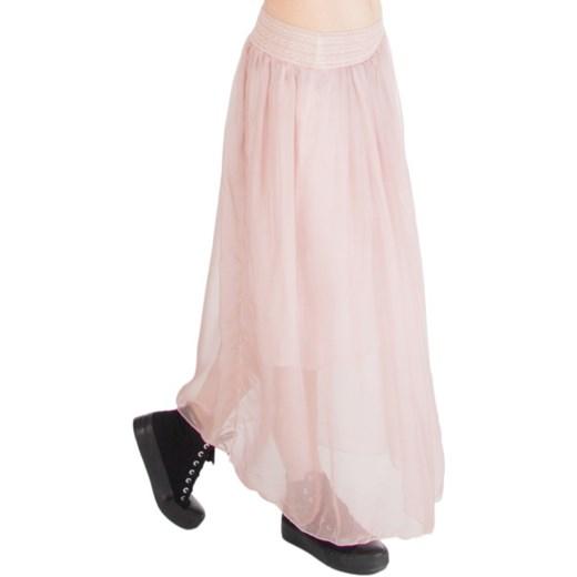 Letnia długa spódnica w kolorze brudnego różu moodify pl