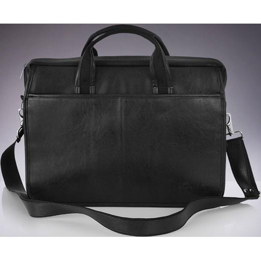 46eb8eba4b0dd SOLIER S13 nowoczesna czarna męska torba na ramię