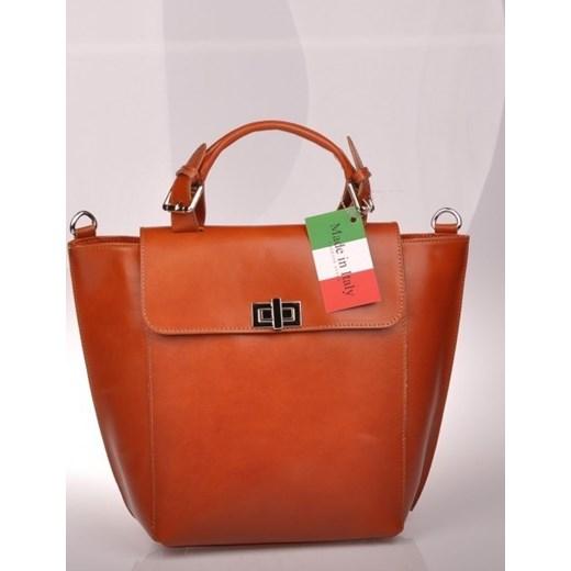 c5622f7921dab MADE IN ITALY Mano 102 ruda włoska torebka skórzana skorzana-com czerwony  skórzane