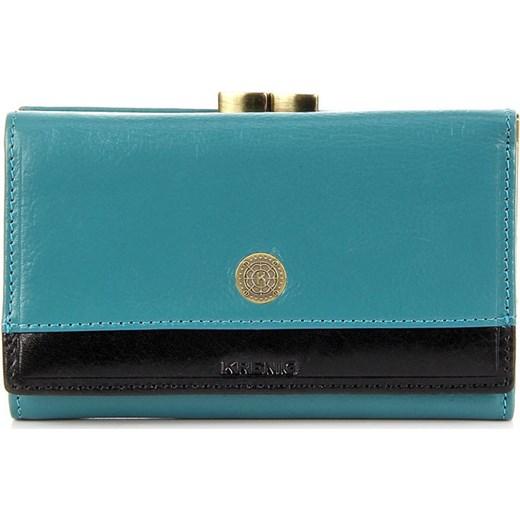 3fe9bc5552fe3 ... KRENIG Scarlet 13022 jasnoniebieski portfel skórzany damski w pudełku  skorzana-com turkusowy skóra ...