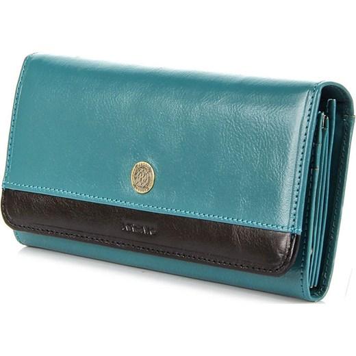 356a27d54824b KRENIG Scarlet 13026 jasnoniebieski portfel skórzany damski skorzana-com turkusowy  damskie ...