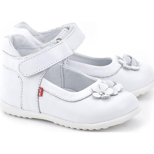 8add4e65 Roczki - Białe Skórzane Baleriny Dziecięce - E 2094-4 mivo-kids bialy  Baleriny