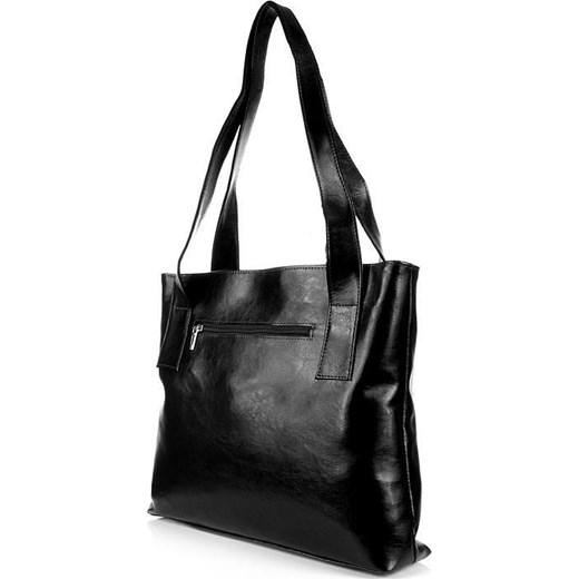 73d319e1f1efe ... DAN-A T222 czarna torebka skórzana damska skorzana-com bialy elegancki  ...