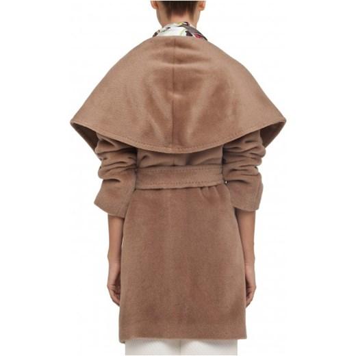 Płaszcz krótki z szalowym kołnierzem