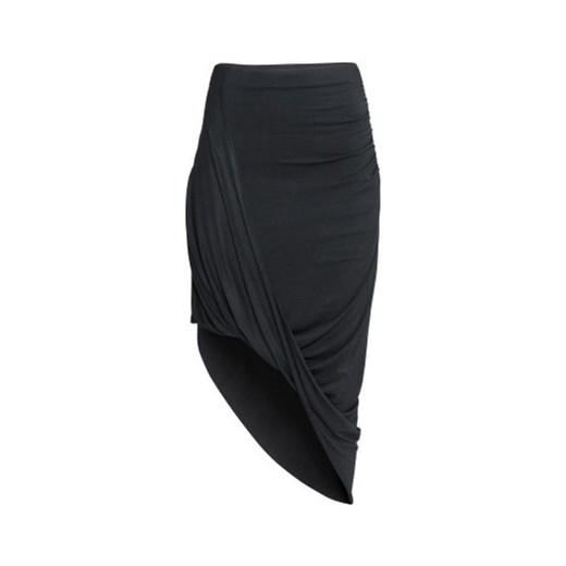 14dc2b0e Drapowana spódnica h-m czarny asymetryczne