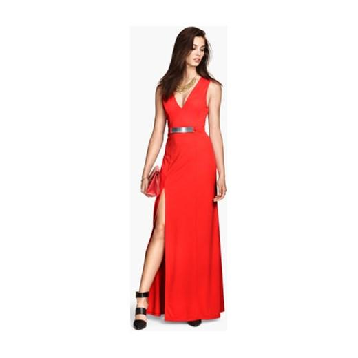 702797692e Długa suknia h-m czerwony długie w Domodi