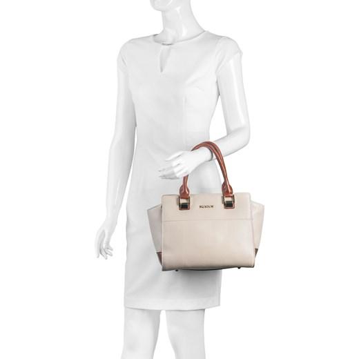 4c284540854ac ... bezowy design · Kremowo-brązowa torebka skórzana kazar-com bialy  elegancki