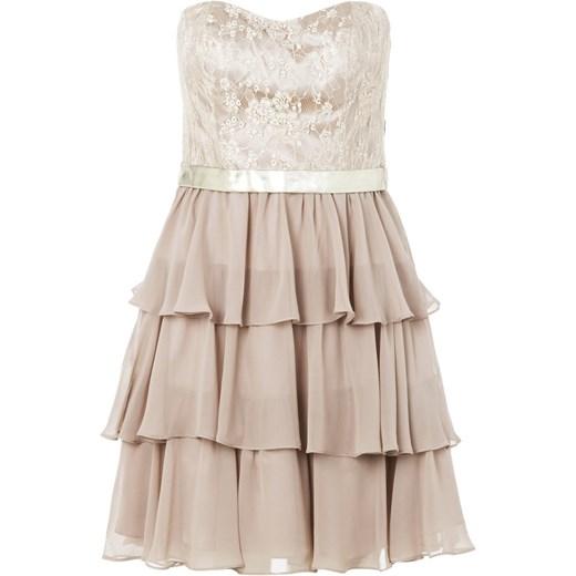 b16e414751 Laona Sukienka koktajlowa cream zalando bezowy koronka w Domodi