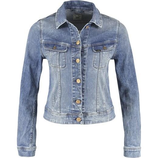 a1064b6af0c0c Lee SLIM RIDER Kurtka jeansowa summer feeling zalando niebieski  abstrakcyjne wzory ...