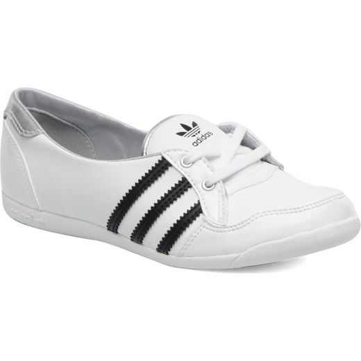 Baleriny Adidas Originals Forum slipper sarenza bialy