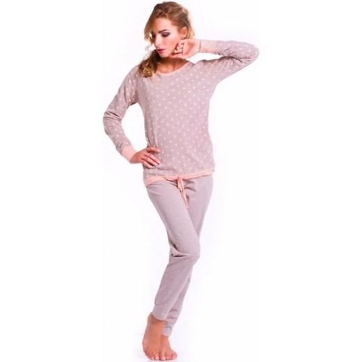 f84e5267a4216e Dobranocka PM.6010 piżama damska ekskluzywna-pl szary damskie w Domodi