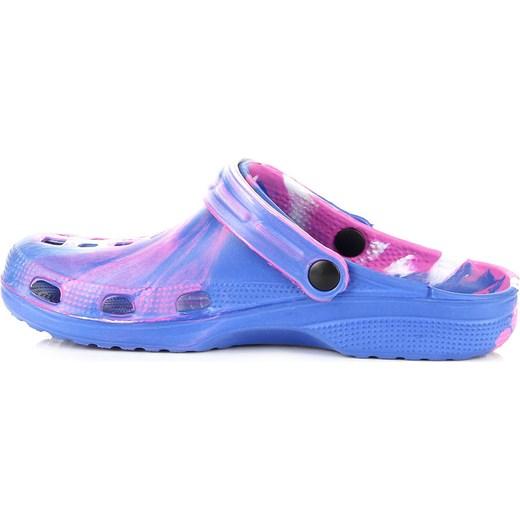 82f8efcfb4297b ... niebieski basen; HASBY K351B niebiesko-różowe klapki damskie basenowe  plażowe butyraj-pl niebieski guma ...