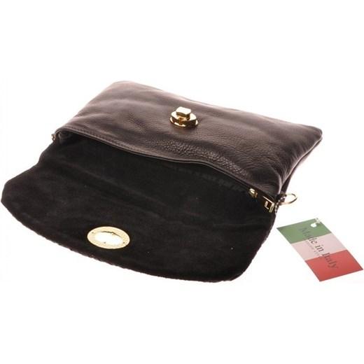 d8d93e067d3c3 ... szary skóra  MADE IN ITALY Frizoine 7 czarna włoska torebka skórzana  kopertówka skorzana-com czarny glamour