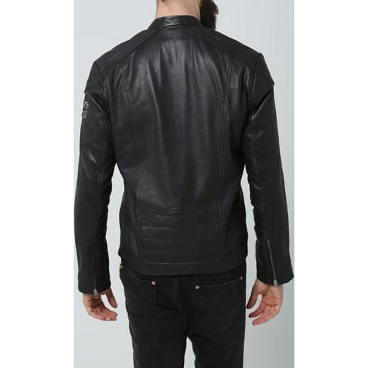 302def21cac25 Pepe Jeans LENNON Kurtka skórzana black zalando czarny bawełna w Domodi
