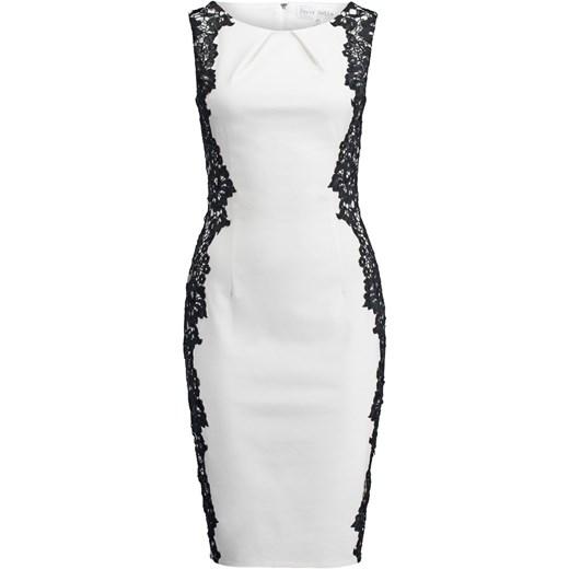 72018c251c Paper Dolls Sukienka etui white   black zalando szary bawełna w Domodi