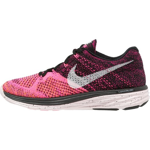 official photos 89e84 69a33 Nike Performance FLYKNIT LUNAR 3 Obuwie do biegania Lekkość  blackwhitepink pow ...