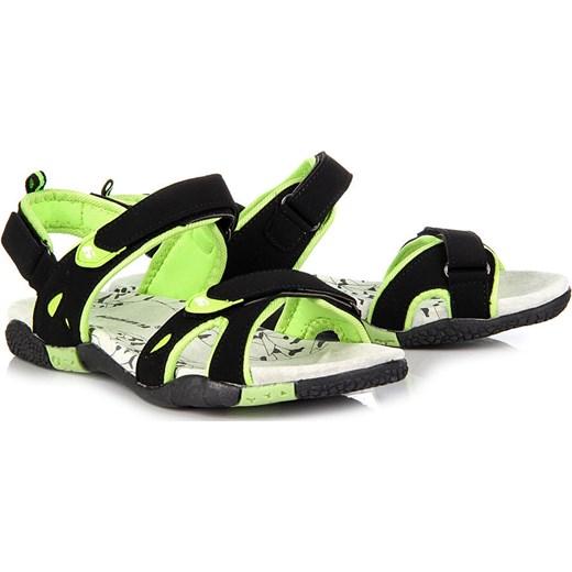 HASBY 1791C czarne sandały damskie sportowe na rzepy butyraj pl modne