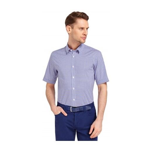 b93e7fca33700 Fioletowa koszula męska Lambert wolczanka niebieski w Domodi