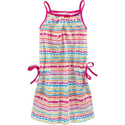 abc11a57a7 Sukienka na ramiączkach ściągana w talii dla dziewczynki endo bezowy  Sukienki dziewczęce letnie