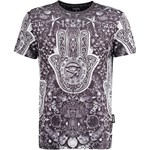 Jaded London EVIL EYE Tshirt z nadrukiem silver