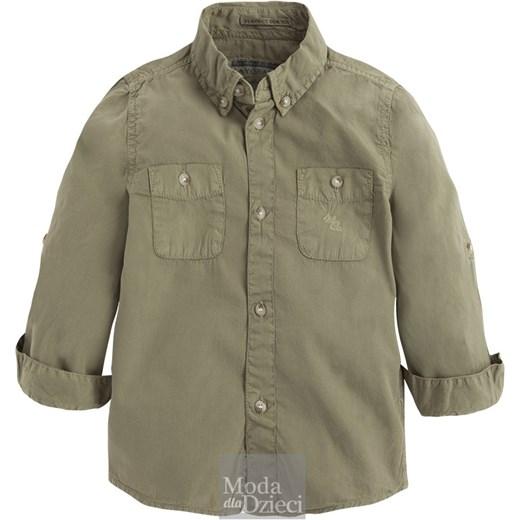 79eb4fdf MAYORAL Koszula chłopięca zielona modadladzieci-com-pl szary bawełna w  Domodi