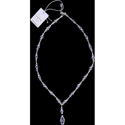 Wspaniały naszyjnik ozdobny ,srebro 925 i kryształy Swarovskiego jubiler-pl KL86