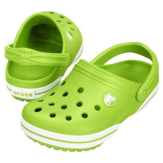 zaoszczędź do 80% 50% ceny taniej Klapki Crocs Crocband X Clog 15076 GREEN-20% yessport-pl zielony paski