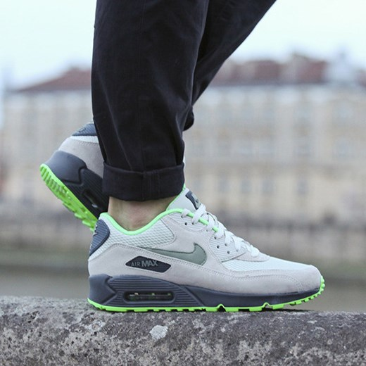 huge discount 5c171 fb44e NIKE AIR MAX 90 ESSENTIAL 537384 043 sneakerstudio-pl szary skóra ...