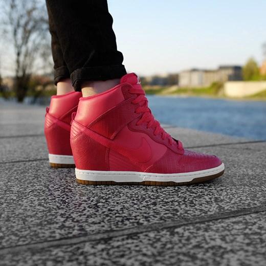 the best attitude 57acd d6fd9 BUTY NIKE DUNK SKY HI 528899 603 sneakerstudio-pl czerwony damskie ...