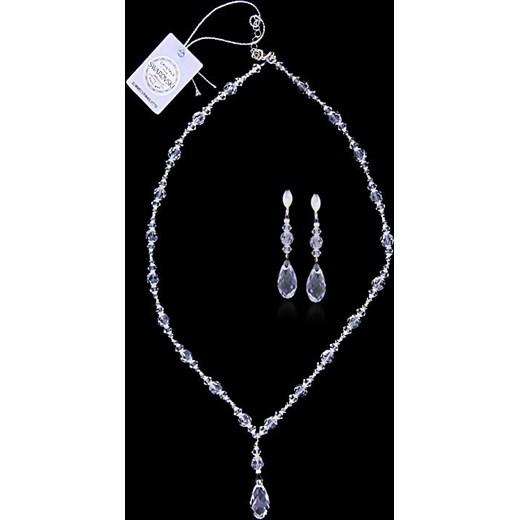 92bd8fcf70f829 komplet biżuterii ,srebro 925 i kryształy Swarovskiego jubiler-pl czarny  kamienie w Domodi