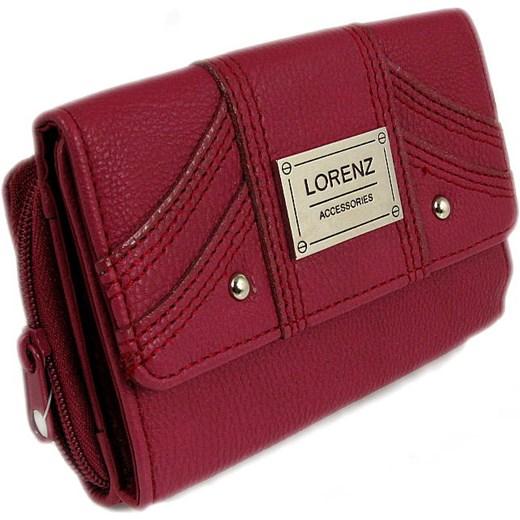 2f72bba31ab82 Ciemnoróżowy damski portfel Lorenz