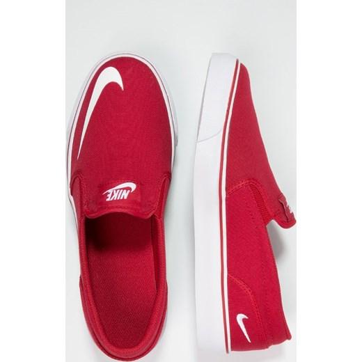 topowe marki super promocje na sprzedaż online Nike Sportswear TOKI Półbuty wsuwane red/white zalando czerwony  abstrakcyjne wzory