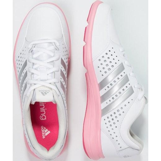ece64c35dcae4 ... rozowy fitness  adidas Performance ARIANNA III Obuwie treningowe  white silver metallic super pop zalando szary skóra ...