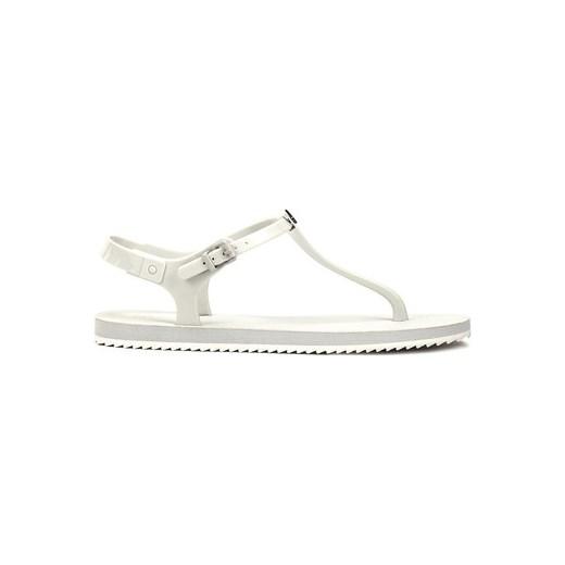e33a2b71ea082 Calvin Klein Jeans Japonki Savanna Jelly - Białe Piankowe Sandały Damskie -  RE9248/WHT Calvin