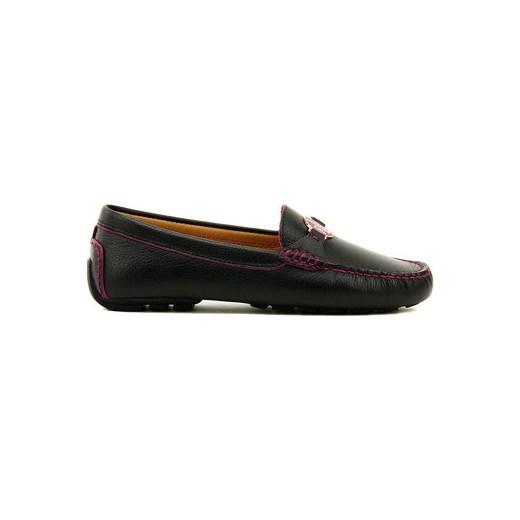 422c991d0e026 Polo Ralph Lauren K Mokasyn Carley - Czarne Skórzane Mokasyny Damskie - N88  Q0256 RDISK W0S2