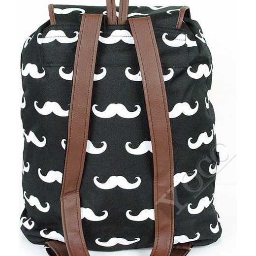 a4ae78b42ab63 ... Polski Plecak Vintage TARA Plecaki Mustache Wąsy yoco-pl szary kwiatowy  ...