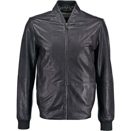 55781cbac352c Calvin Klein Jeans LEX PF Kurtka skórzana black zalando szary abstrakcyjne  wzory ...