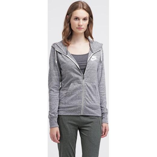 18e8b37a9 Nike Sportswear GYM VINTAGE Bluza rozpinana carbon/sail zalando szary  bawełna w Domodi